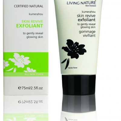 Gently reveal glowing, nourished skin with Living Nature's certified natural Skin Revive Exfoliant.